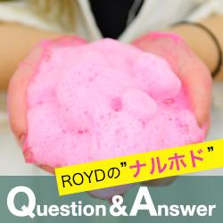 """ROYDの""""ナルホド"""" Q&A"""
